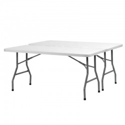 Table rectangulaire pliante Polyéthylène XL150 dim:152x76 Minimum de commande 10 tables