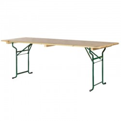 Tables brasserie 200x70cm piétement tube